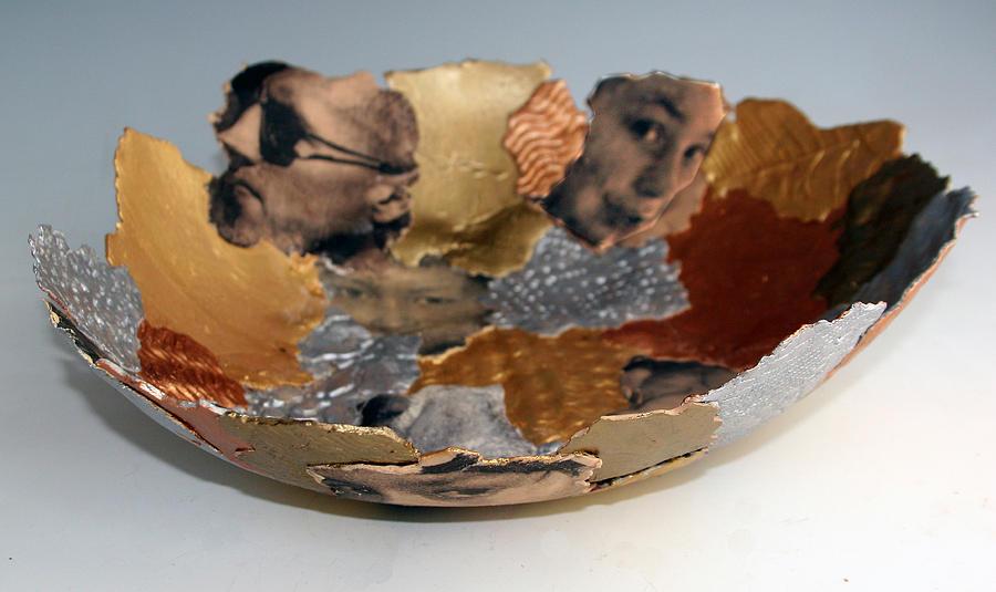 Bowl Ceramic Art - Family Photo Soft Bowl by Alene Sirott-Cope