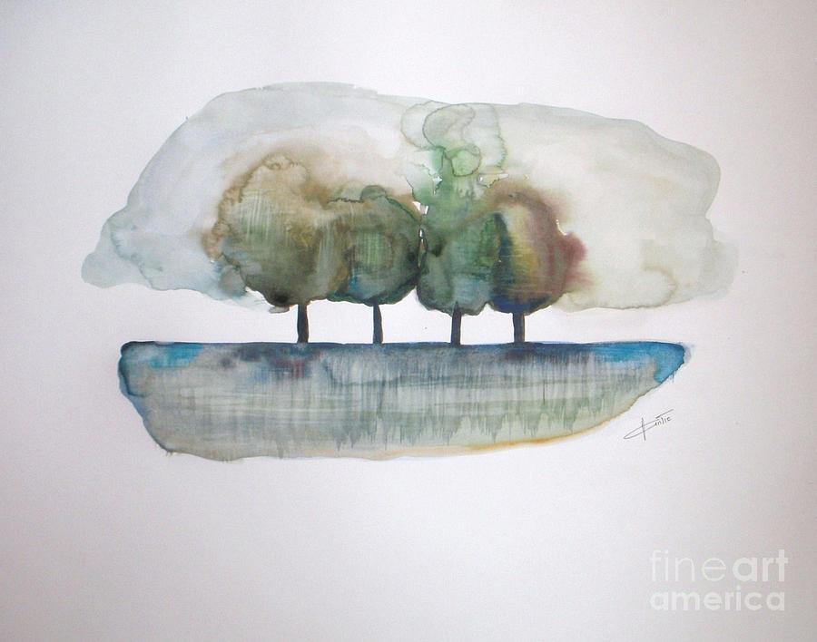 Trees Painting - Family Trees by Vesna Antic