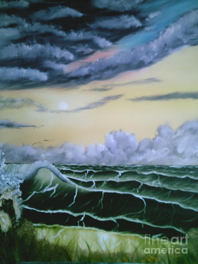 Seascape Painting - Fantasy Seascape by Jim Saltis