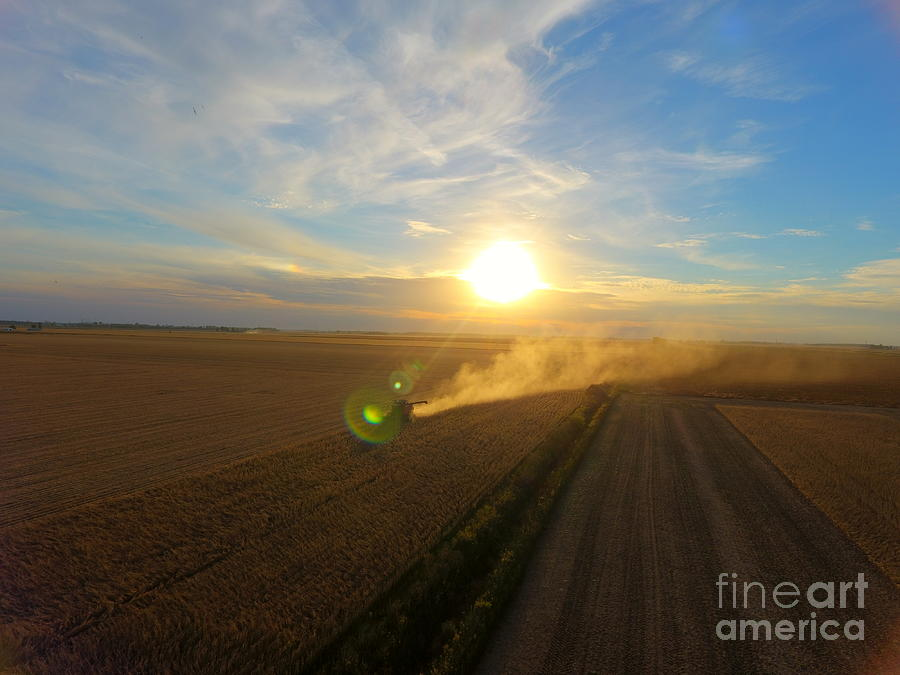 Farming Photograph - Farming by Timeless Aerial Photography LLC