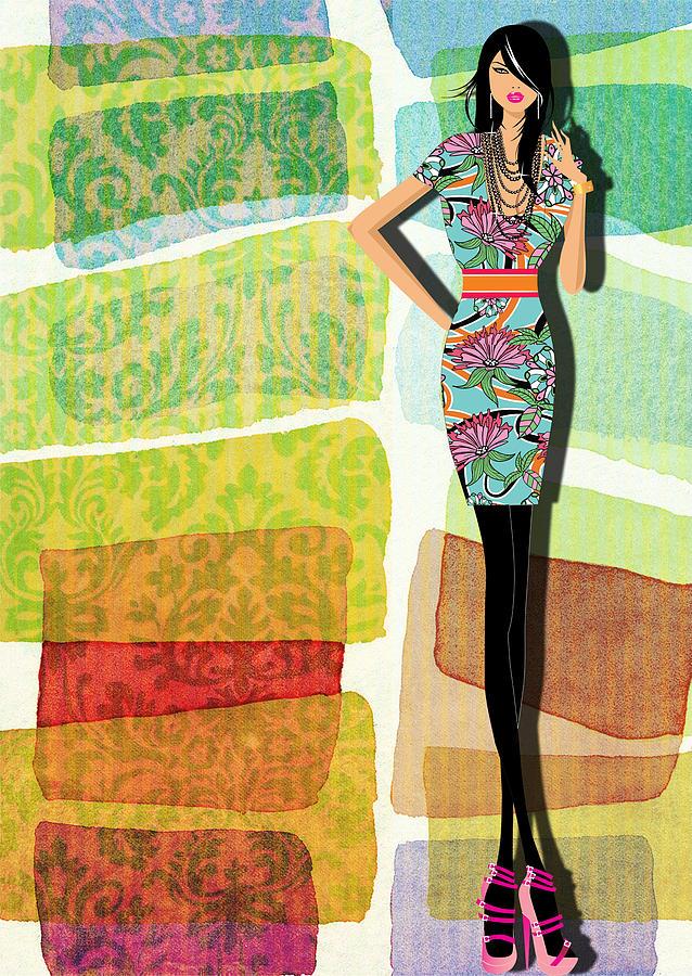 Fashion Illustration Digital Art by Ramneek Narang