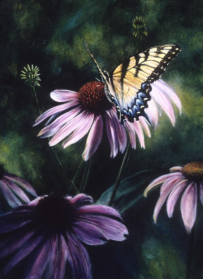 Butterfly Painting - Feast by Janet Landrum