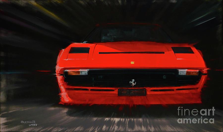 Ferrari Painting - Ferrari 208 Gtb Turbo. by Artem Oleynik