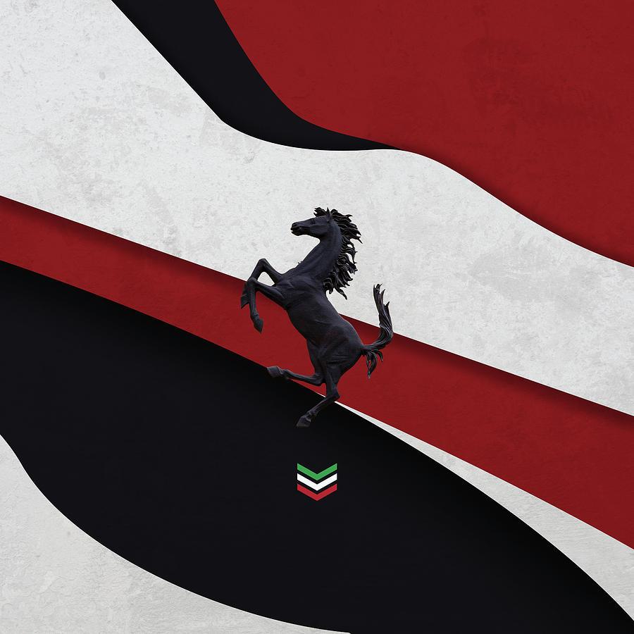 Italy Digital Art - Ferrari Blend by Srdjan Petrovic