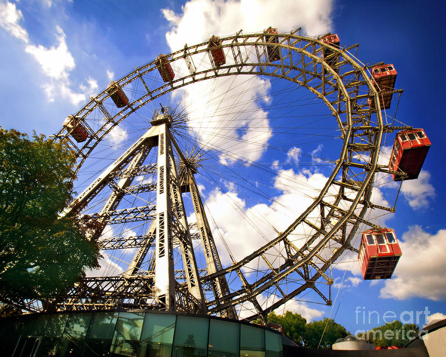 Ferris Wheel Photograph - Ferris Wheel At The Prater  by Madeline Ellis