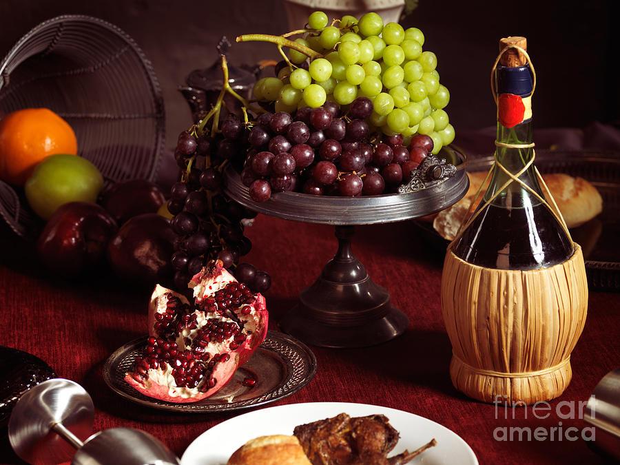 Feast Photograph - Festive Dinner Still Life by Oleksiy Maksymenko