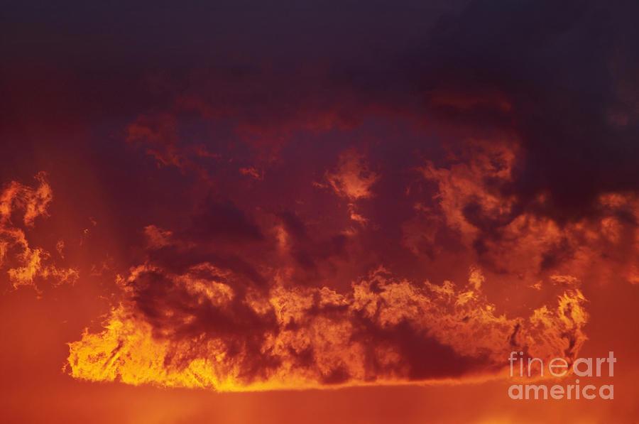 Sunset Photograph - Fiery Clouds by Michal Boubin