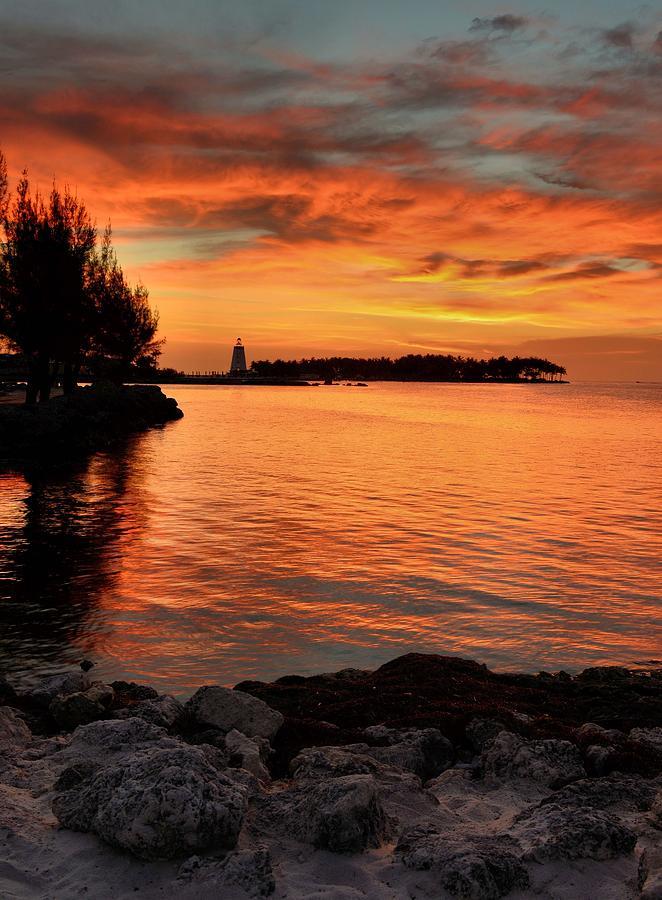 Sunset Photograph - Fiery Sunset Reflections by Stephen  Vecchiotti
