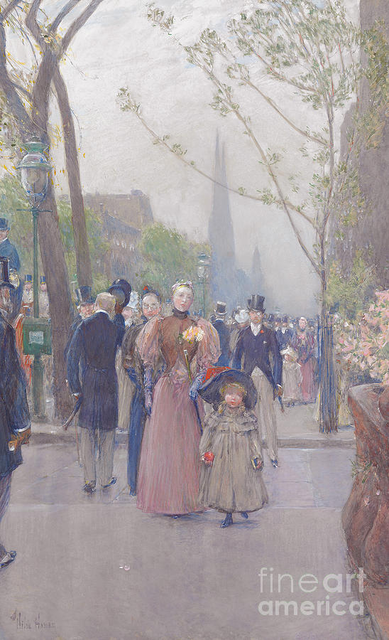 Childe Hassam Painting - Fifth Avenue by Childe Hassam