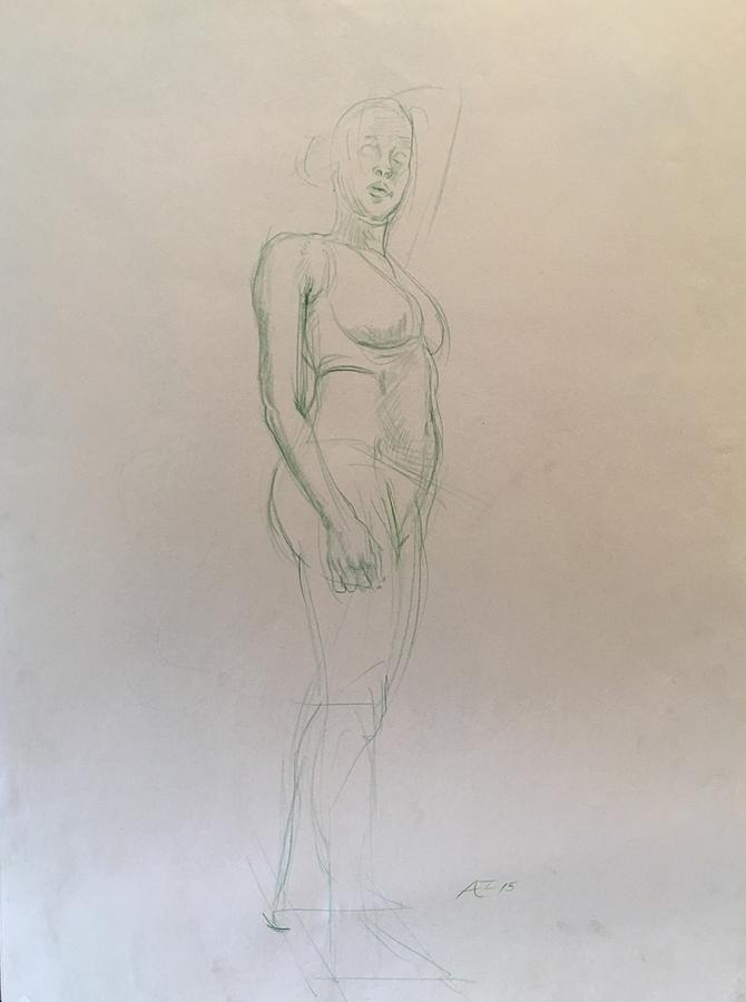 Figure Sketch Drawing by Alejandro Lopez-Tasso
