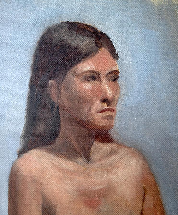Figure Study Painting by Cynthia Mozingo