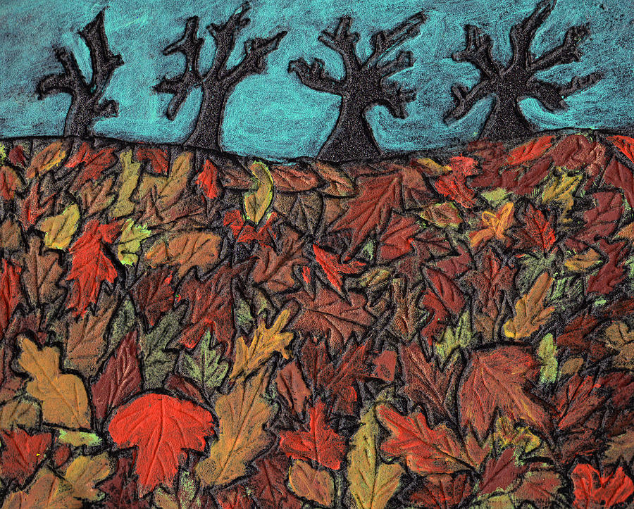 Leaves Painting - Finding Autumn Leaves by Wayne Potrafka