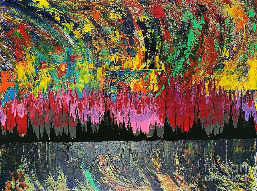 Original Painting - Fire Dance by Yueer Xu