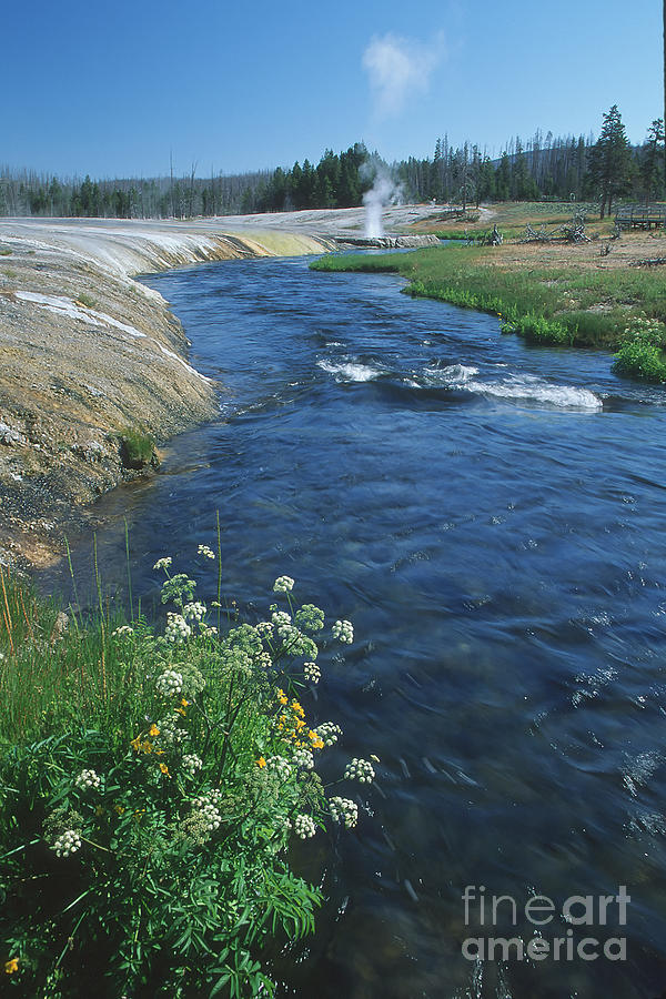 Wyoming Photograph - Firehole River by Stan and Anne Foster