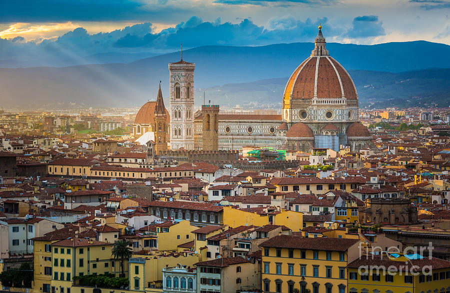 Arno Photograph - Firenze Duomo by Inge Johnsson