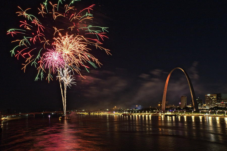 Fireworks at the Arch by Harold Rau
