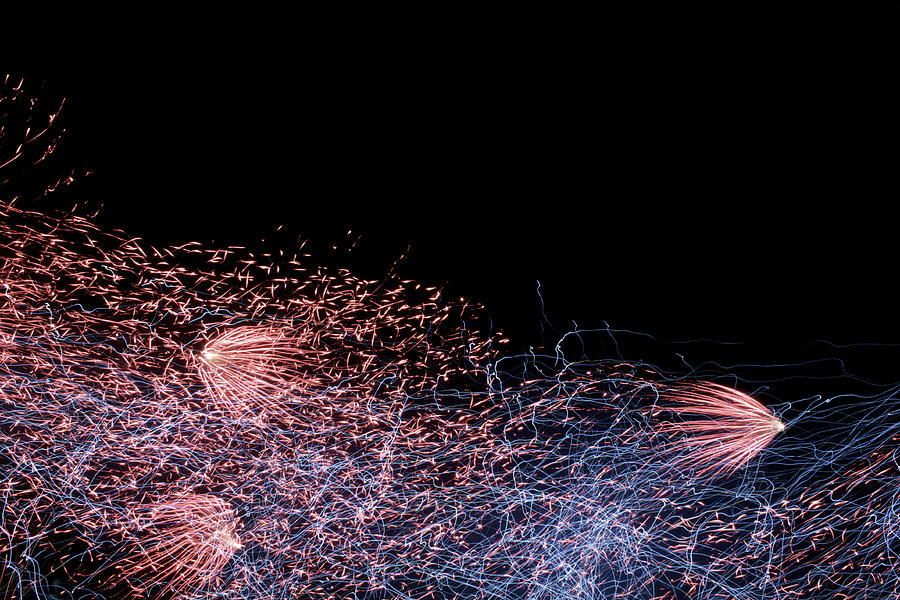 Fireworks Photograph - Fireworks Abstract I by Happy Lourie