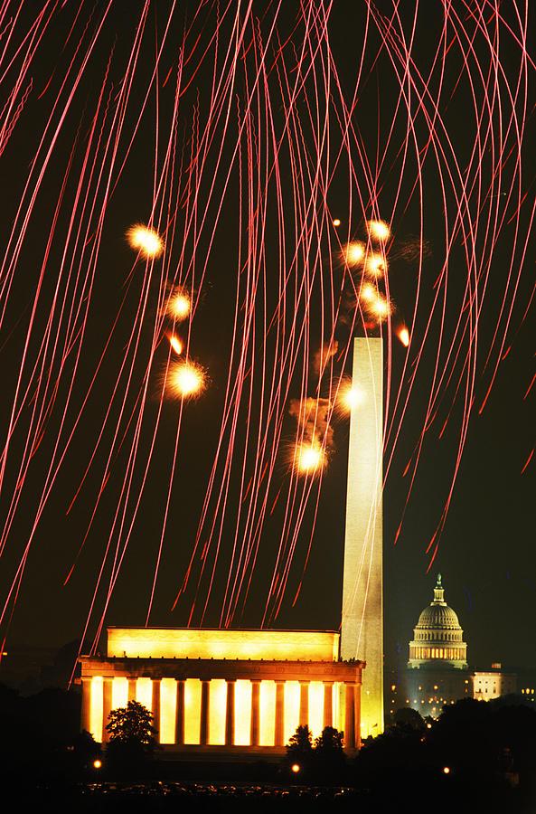 Fireworks Over Washington Photograph