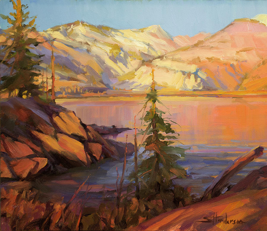Wilderness Painting - First Light by Steve Henderson