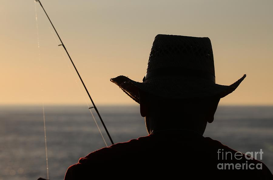 Fishing Photograph - Silhouette Of A Fisherman by Douglas Sacha