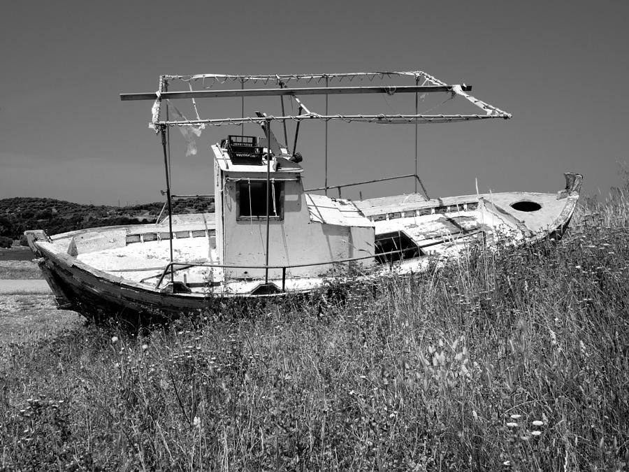 Abandoned Photograph - Fishing Boat by Roy Pedersen