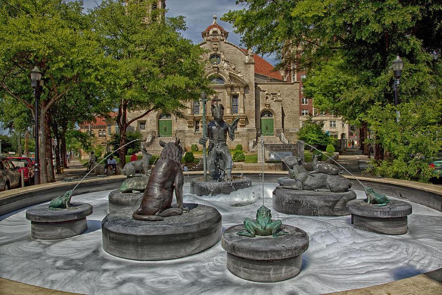 Birmingham Photograph - Five Points Fountain - Birmingham Alabama by Mountain Dreams