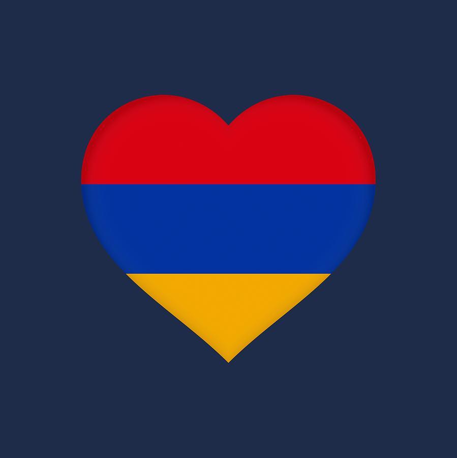 с днем рождения армянский флаг высыхания краски рамку