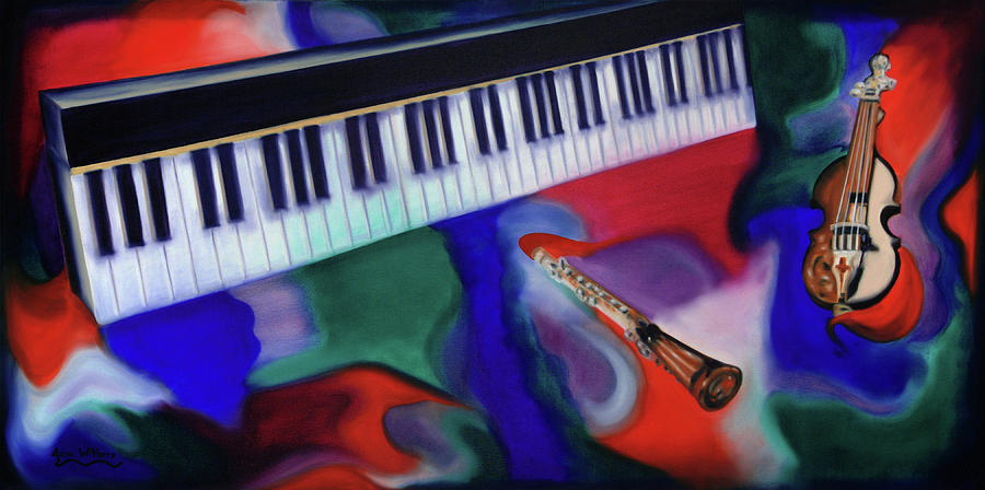 Keyboard Painting - Flamboyant by Jana Withers