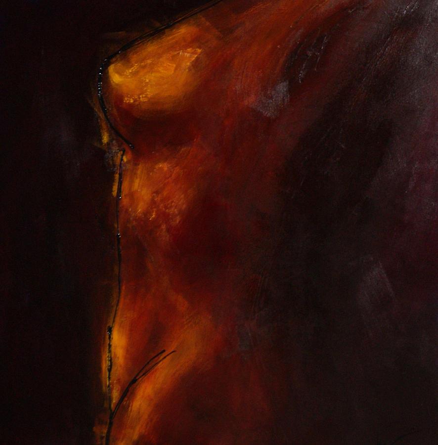 Nude Painting - Flame by Bojana Randall