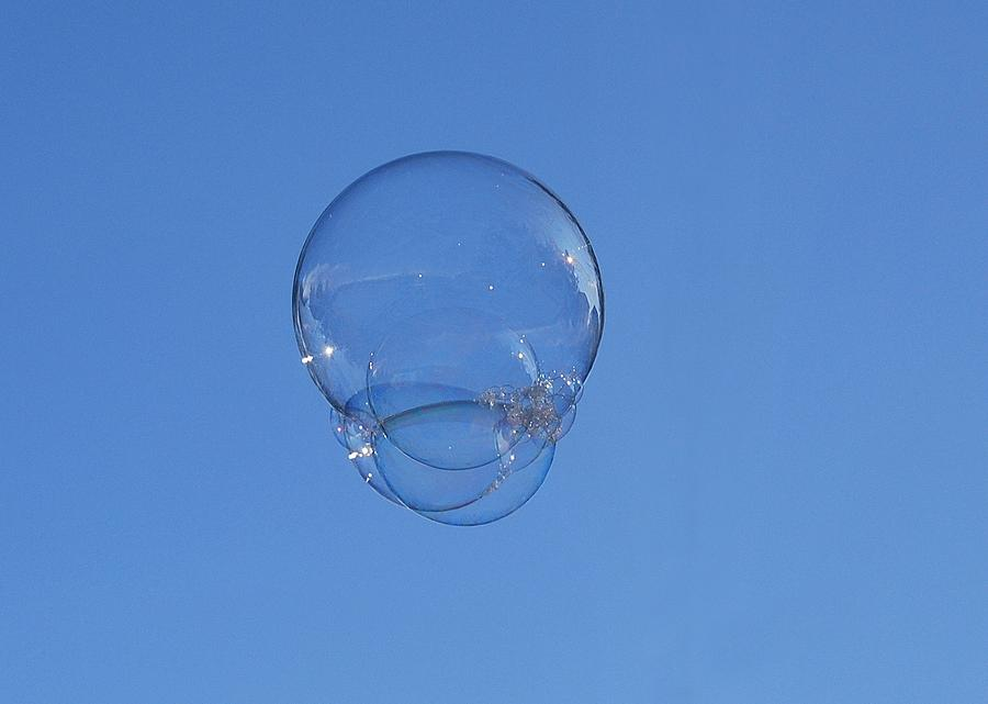 Bubbles Photograph - Floating by Marilynne Bull