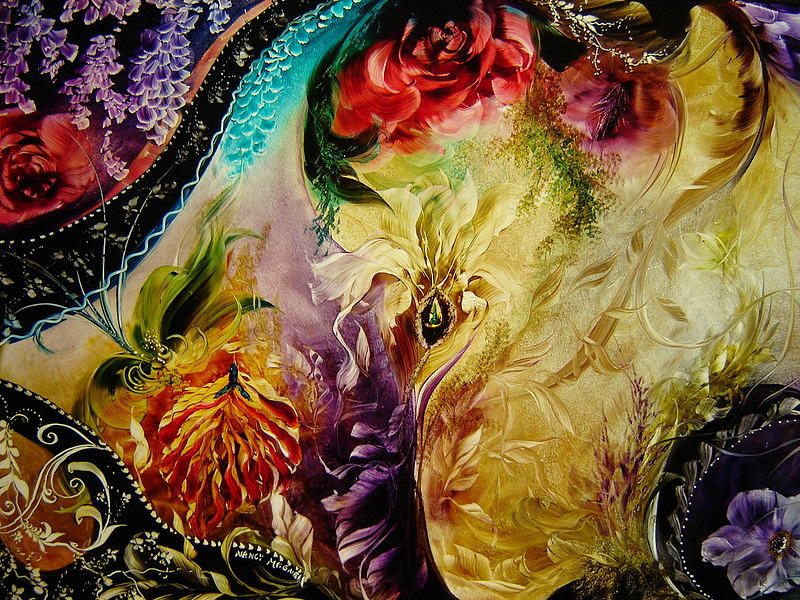 Flowers Painting - Floral Abstract by Nancy Magnell