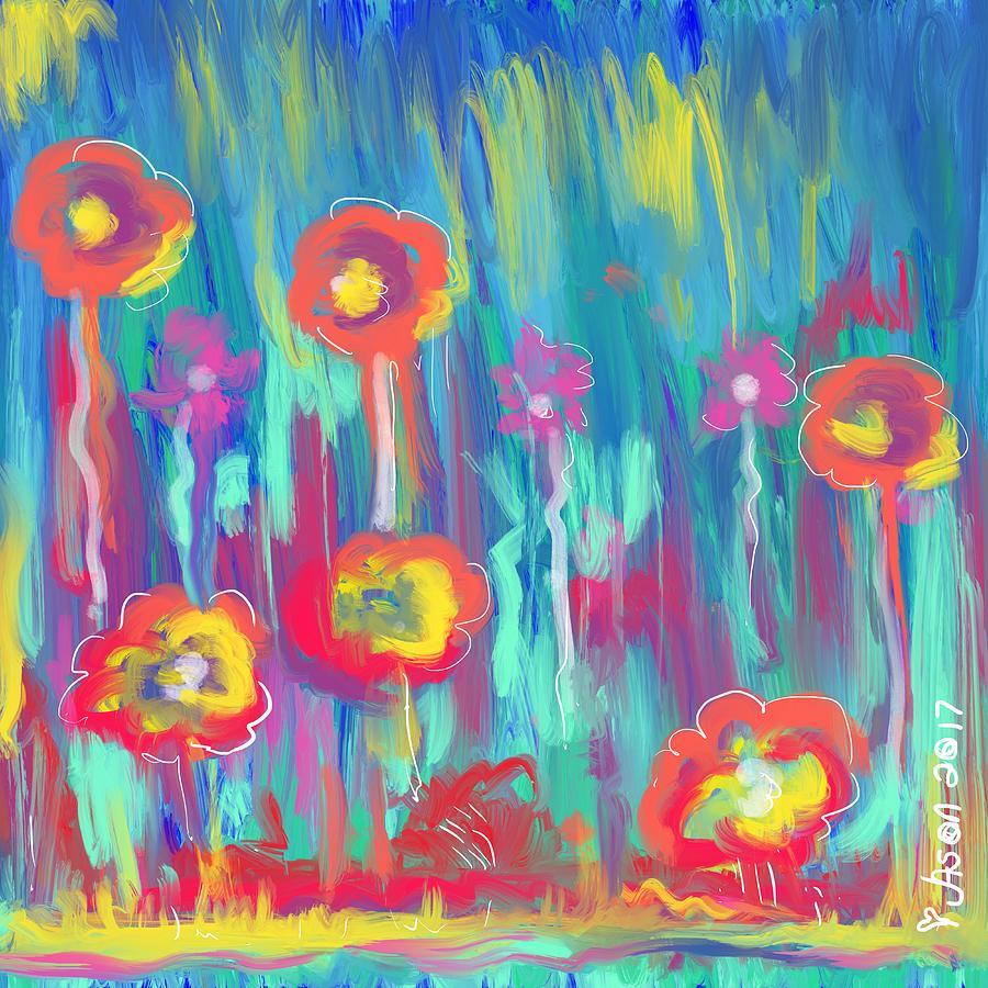 Flowers Digital Art - Flower Garden by Jason Nicholas