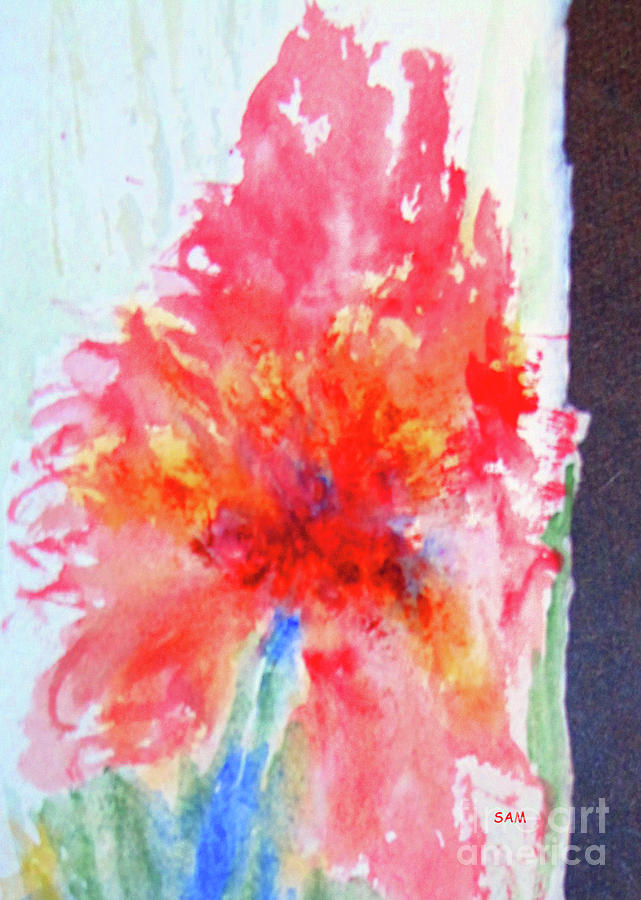 Flower in Watercolor 1 by Sandy McIntire
