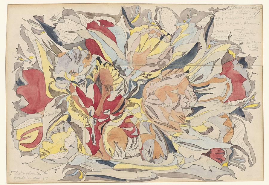 Flower Market, Theo Colenbrander, 1917 Painting