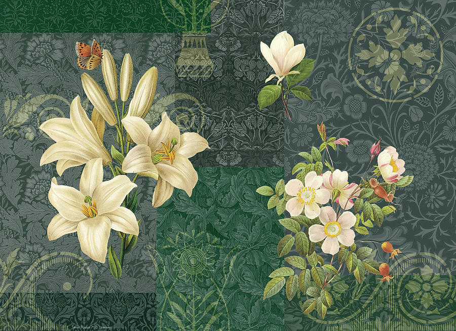 Flowers Painting - Flower Patchwork 2 by JQ Licensing