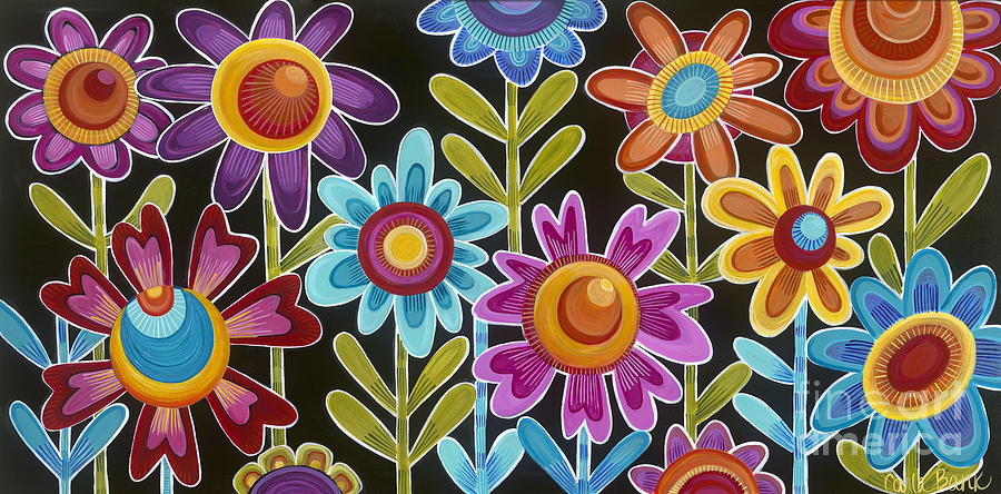 Flower Power Painting - Flower Power by Carla Bank