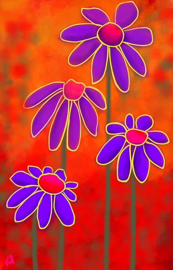 Flowers Digital Art - Flower Power by Kathleen Hromada