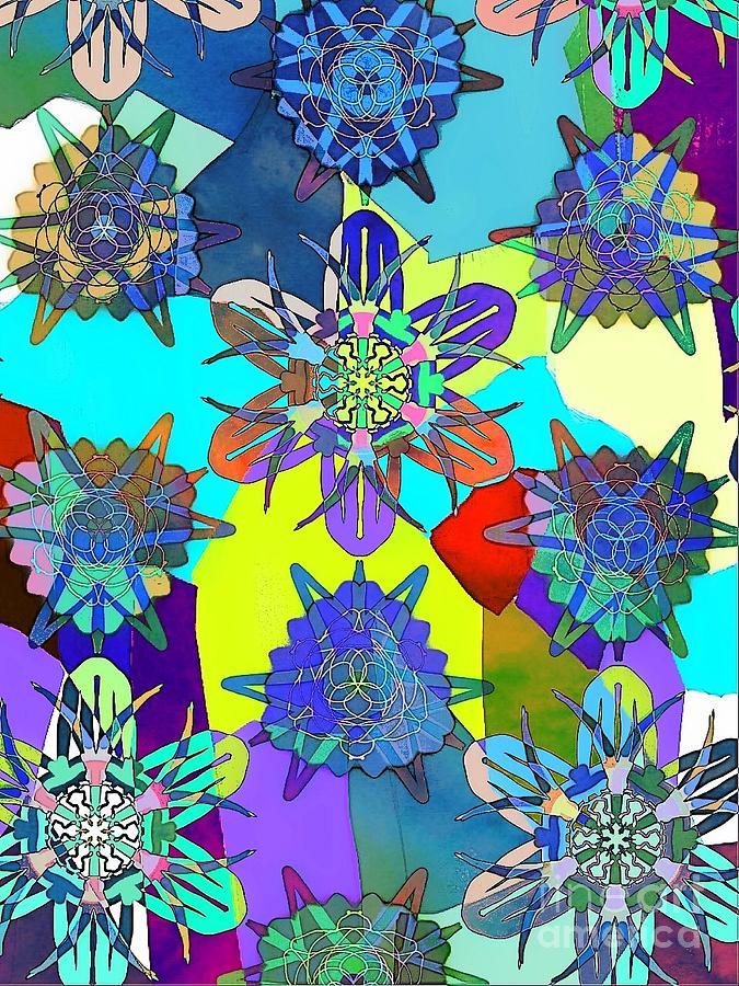 Abstract Floral Digital Art - Flowers by Cooky Goldblatt