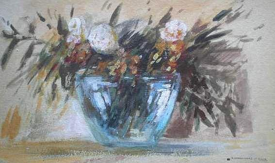 Flowers Painting by George Siaba