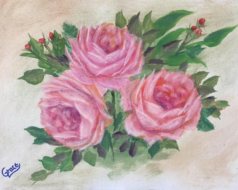 Flowers  Painting by Grace Stroup