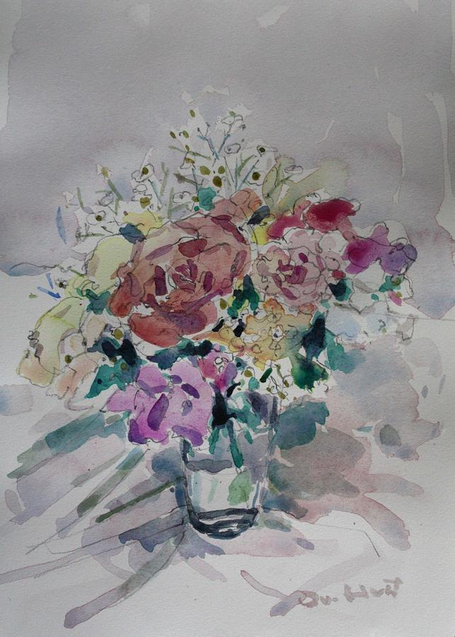 Owen Hunt Painting - Flowers In A Glass by Owen Hunt