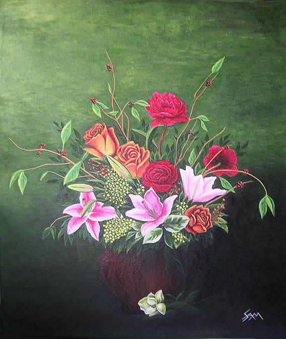Flowers Painting - Flowers by Sam Joseph
