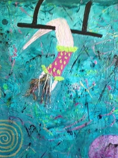 Women Painting - Flying Without A Net by Annette McElhiney
