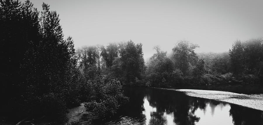 Washington Photograph - Fog Over The Snoqualmie River by Mountain Dreams