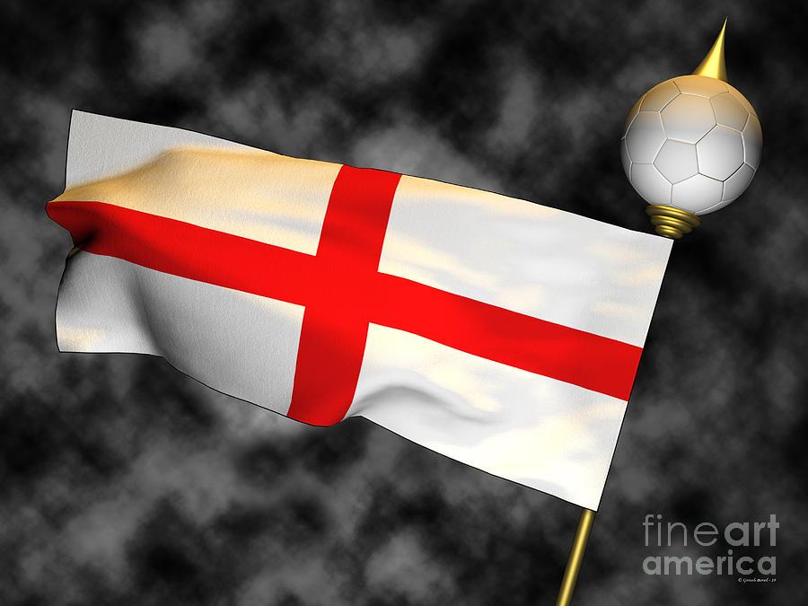 Fifa Photograph - Football World Cup Cheer Series - England by Ganesh Barad