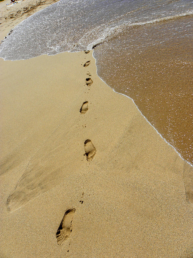 photograph regarding Footprints in the Sand Poem Printable Version called Footprints Within The Sand