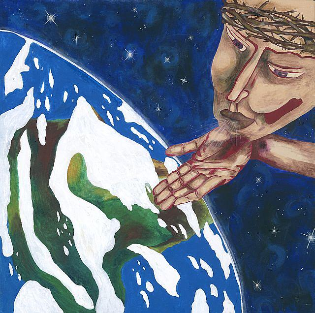 Global Painting - For Us by Laurie Berg