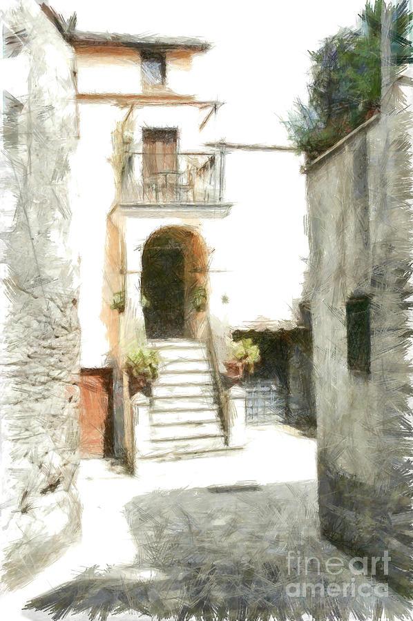 Pencil Digital Art - Foreshortening by Giuseppe Cocco
