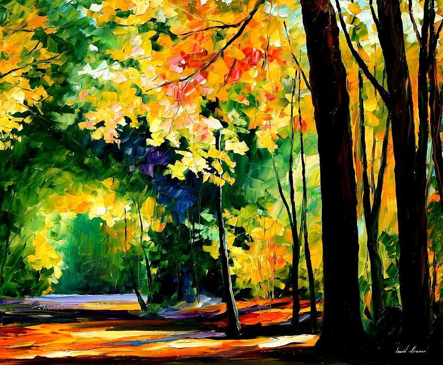 Landscape Painting - Forest by Leonid Afremov
