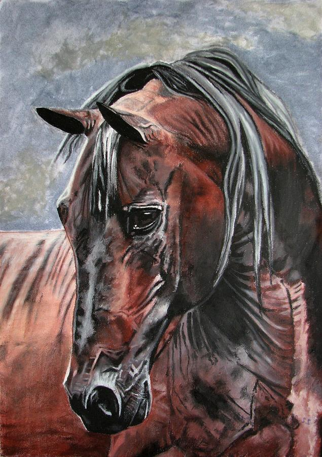 Horse Painting - Forever by Melita Safran
